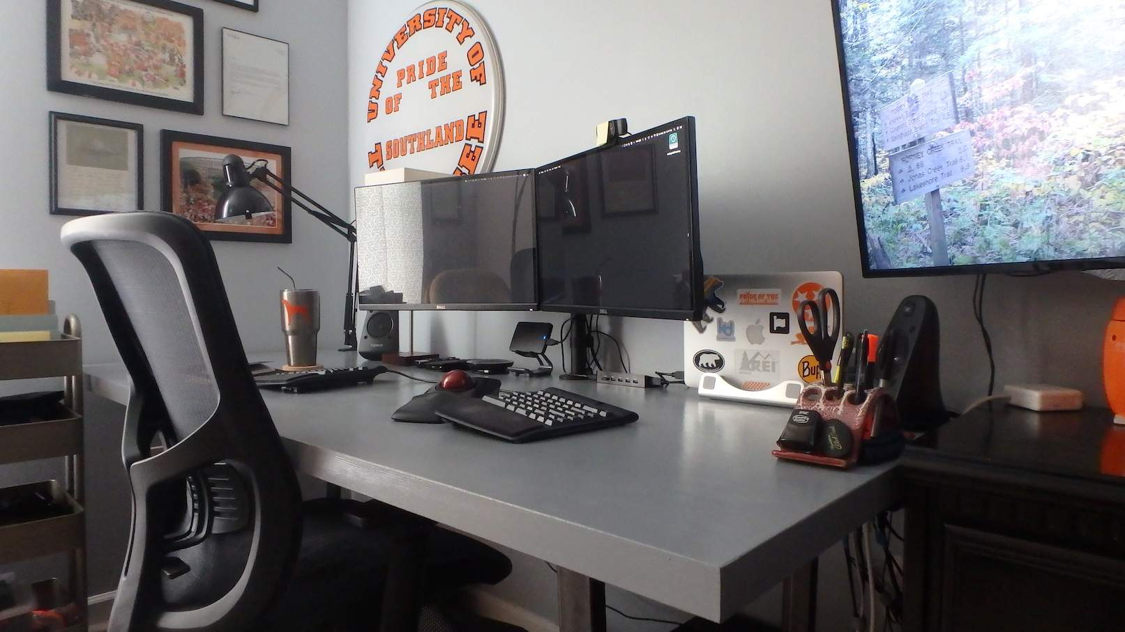 Closer picture of my desk